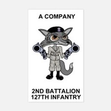 2-127th Infantry <BR>A Co. Sticker 2