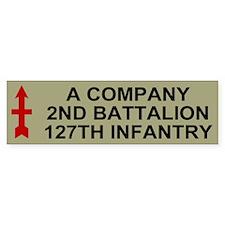 2-127th Infantry <BR>A Company Bumper Sticker 2