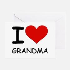 I LOVE GRANDMA Greeting Card