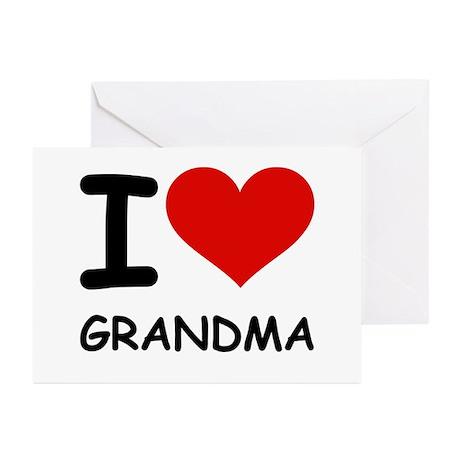 I LOVE GRANDMA Greeting Cards (Pk of 20)