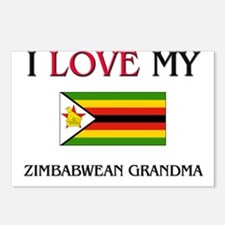 I Love My Zimbabwean Grandma Postcards (Package of