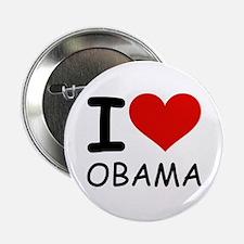 """I LOVE OBAMA 2.25"""" Button"""