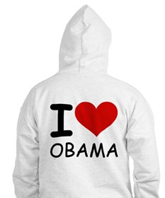 I LOVE OBAMA Jumper Hoody