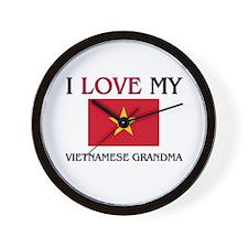 I Love My Vietnamese Grandma Wall Clock