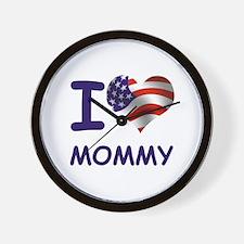 I LOVE MOMMY (USA) Wall Clock