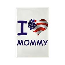 I LOVE MOMMY (USA) Rectangle Magnet