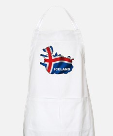 Map Of Iceland BBQ Apron