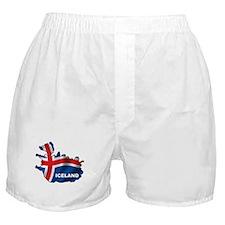 Map Of Iceland Boxer Shorts