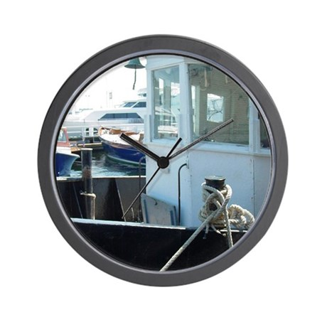 NNH Newport RI Boat Wall Clock