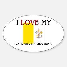 I Love My Vatican City Grandma Oval Decal