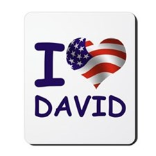 I LOVE DAVID (USA) Mousepad