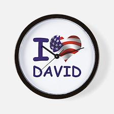 I LOVE DAVID (USA) Wall Clock
