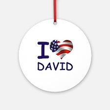 I LOVE DAVID (USA) Ornament (Round)