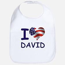 I LOVE DAVID (USA) Bib