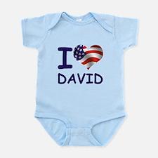I LOVE DAVID (USA) Infant Bodysuit