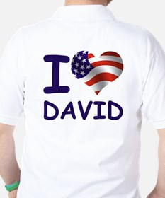 I LOVE DAVID (USA) Golf Shirt