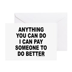 ANYTHING YOU CAN DO Greeting Cards (Pk of 10)