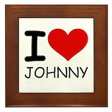 I LOVE JOHNNY Framed Tile
