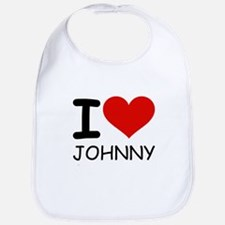 I LOVE JOHNNY Bib