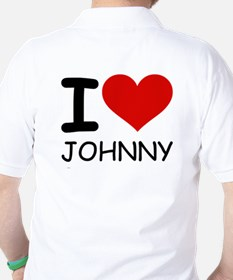 I LOVE JOHNNY Golf Shirt