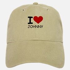 I LOVE JOHNNY Baseball Baseball Cap