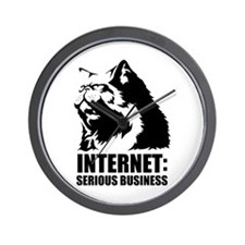 the internet is serious business Wall Clock