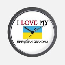 I Love My Ukrainian Grandma Wall Clock