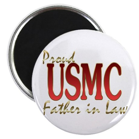 proud usmc father in law Magnet