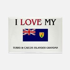 I Love My Turks & Caicos Islander Grandma Rectangl