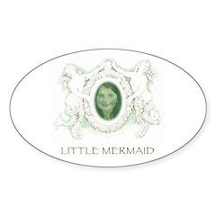 Little Mermaid - Portrait Oval Sticker (10 pk)