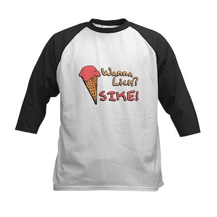 Wanna Lick? Kids Baseball Jersey