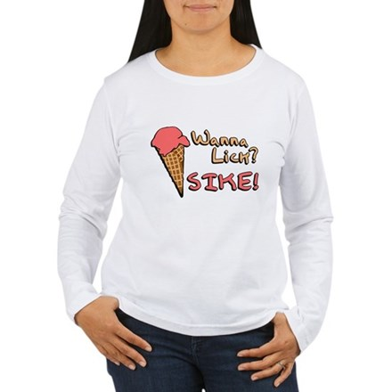 Wanna Lick? Womens Long Sleeve T-Shirt
