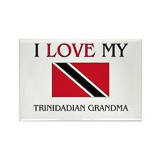 I Love My Trinidadian Grandma Rectangle Magnet