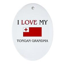 I Love My Tongan Grandma Oval Ornament