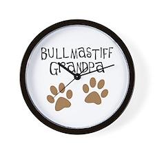 Bullmastiff Grandpa Wall Clock