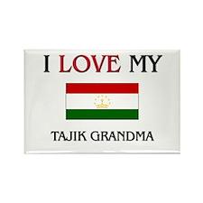 I Love My Tajik Grandma Rectangle Magnet