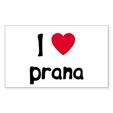 I love Prana Rectangle Sticker