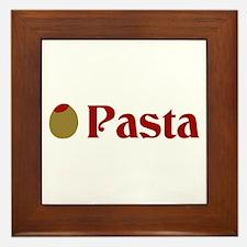 Olive (I Love) Pasta Framed Tile