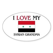 I Love My Syrian Grandma Oval Decal