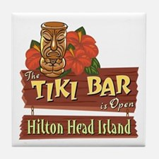 Hilton Head Tiki Bar - Tile Coaster