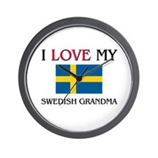 I Love My Swedish Grandma Wall Clock