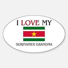 I Love My Surinamer Grandma Oval Decal