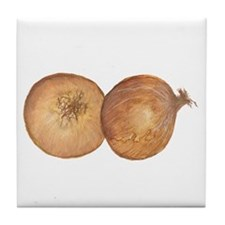 two onions Tile Coaster