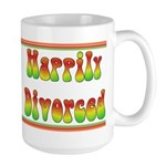 Happily Divorced 60s Large Mug