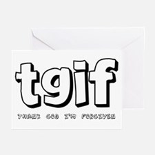TGIF Thank God I'm Forgiven Greeting Cards (Packag