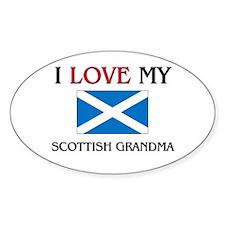 I Love My Scottish Grandma Oval Decal