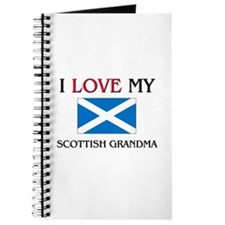 I Love My Scottish Grandma Journal