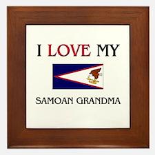 I Love My Samoan Grandma Framed Tile