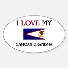 I Love My Samoan Grandma Oval Decal
