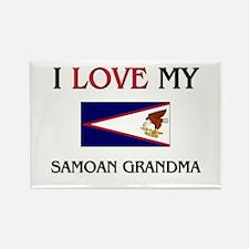 I Love My Samoan Grandma Rectangle Magnet